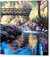 Boulder Creek Bridge Canvas Print
