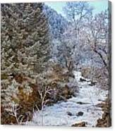 Boulder Creek Winter Wonderland Canvas Print