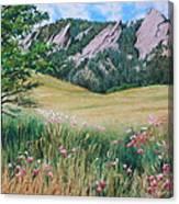 Boulder Flatirons - Chautauqua Study Canvas Print