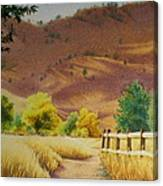 Boulder Foothills In Autumn Canvas Print