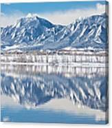 Boulder Reservoir Flatirons Reflections Boulder Colorado Canvas Print