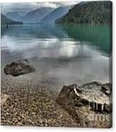 Boulders On The Edge Of Cheakamus Lake Canvas Print