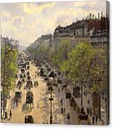 Boulevard Montmarte Canvas Print