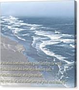 Boundaries Of Beaches Canvas Print