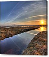 Boundary Bay B.c Sunset Canvas Print