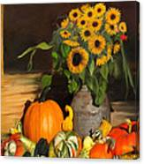 Bountiful Harvest - Floral Painting Canvas Print