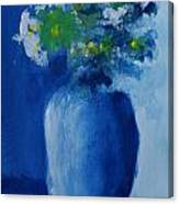 Bouquet In Blue Shadow Canvas Print