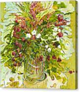 Bouquet Jaune - Original For Sale Canvas Print