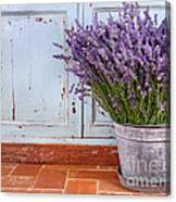 Bouquet Of Lavender In A Rustic Setting Canvas Print