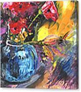 Bouquet With Black Tulip Canvas Print