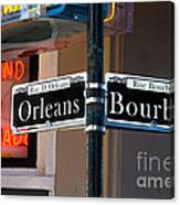 Bourbon And Orleans Canvas Print