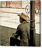 Bourbon Cowboy In New Orleans Canvas Print