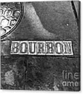 Bourbon Mono Canvas Print