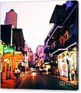 Bourbon Street Early Evening Canvas Print