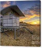 Bournemouth Beach Sunrise Canvas Print
