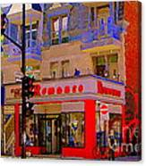Boutique Erotique Romance Mont Royal The Love You Make Is Equal To The Love You Take City Scene Art Canvas Print