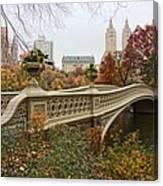 Bow Bridge In Central Park Canvas Print