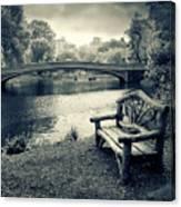 Bow Bridge Nostalgia Canvas Print