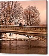 Bow Bridge Panorama Canvas Print