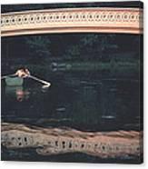 Bow Bridge Rowboat Central Park Canvas Print