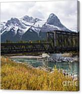Bow River Railroad Trestle Canvas Print