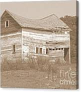 Bowed And Lonely Barn Canvas Print