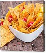Bowl Filled With Nachos Canvas Print