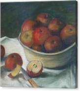 Bowl Of Apples Canvas Print