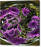 Bowl Of Dahlias Canvas Print