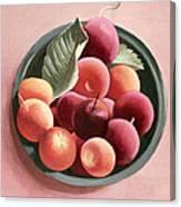 Bowl Of Fruit Canvas Print