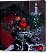 Bowl Of Holiday Passion Canvas Print