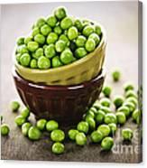 Bowl Of Peas Canvas Print