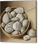Bowl Of Pebbles Canvas Print