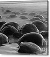 Bowling Ball Beach Bw Canvas Print