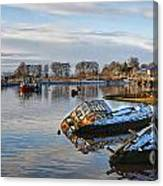 Bowling Harbour Panorama 01 Canvas Print