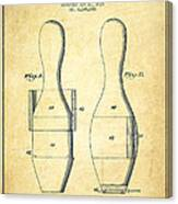 Bowling Pin Patent Drawing From 1938 - Vintage Canvas Print