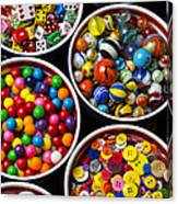 Bowls Of Buttons And Marbles Canvas Print