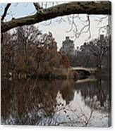Bows And Arches - New York City Central Park Canvas Print