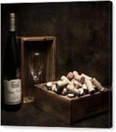 Box Of Wine Corks Still Life Canvas Print