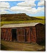 Boxcar On The Plains Canvas Print