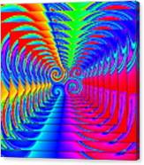Boxed Rainbow Swirls 2 Canvas Print