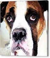 Boxer Art - Sad Eyes Canvas Print