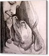 Boxer Kisses Canvas Print