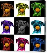 Boxer Mix Dog Art - 8173 - V1 - M Canvas Print