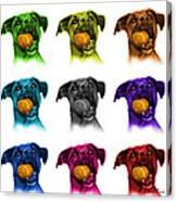 Boxer Mix Dog Art - 8173 - Wb - M Canvas Print
