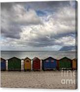 Boxes On The Beach Canvas Print