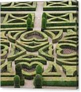 Boxwood Garden - Chateau Villandry Canvas Print