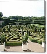 Boxwood Garden Design - Chateau Villandry Canvas Print