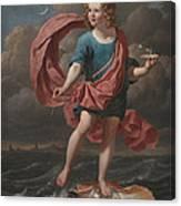 Boy Blowing Soap Bubbles Canvas Print