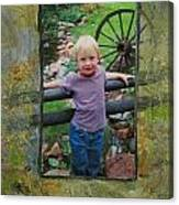 Boy By Fence Canvas Print